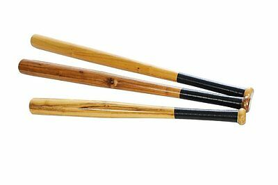 Wooden Baseball Bat Rounders Softball Cricket Heavy Duty Solid Bat 28'' 32''