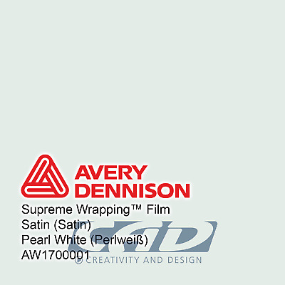 25 m (28,80 € / m) Avery Supreme Car Wrapping Film Folie weiße Perle satin
