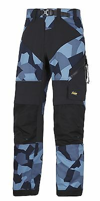 Snickers 6903 Flexiwork Ripstop Trousers Mens Snickers Ripstop Navy Camo