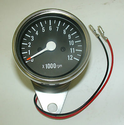 Motorcycle Custom Chrome Tachometer / Rev Counter For Kawasaki Bikes 1:5 Ratio