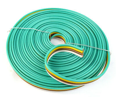25ft 4 way trailer wiring connection kit flat wire extension flat trailer light cable wiring harness 25ft 14 awg 4 wire 4 colors real copper
