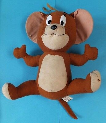 Vintage Jerry soft Toy Figure Warner Brothers Tom And Jerry Rare