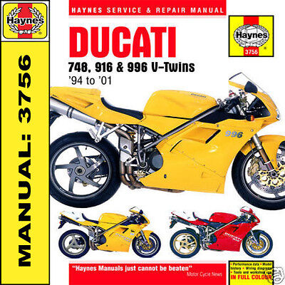 Haynes Ducati 748 916 SP 996 Biposto 94-01 Manual 3756