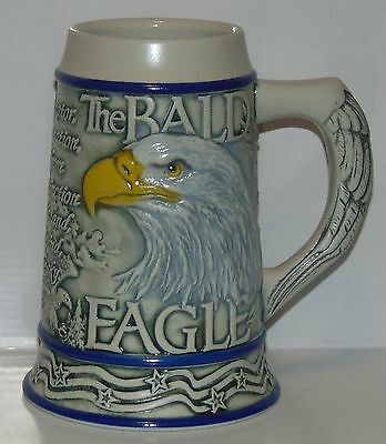 American Animal Stein Bald Eagle Tom O'Brien 2000 Ceramarte Beautiful not used