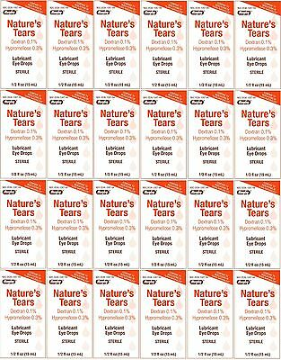 Natures Tears Eye Lubricant Drops Generic Tears Naturale 15 ml Bottle PACK of 24