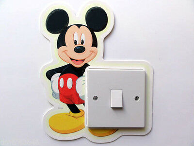 disney mickey mouse light switch wall sticker/decal/kids bedroom/nursery room
