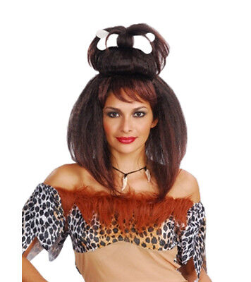 Adult Ladies Cave Woman Wig Fancy Dress Costume Accessory