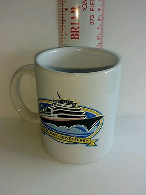 Cape May - Lewes Ferry Collectible Coffee Mug Boat Transportation NJ De Travel S