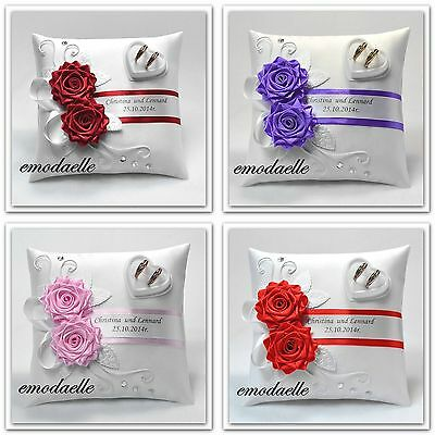Personalized !wedding ring cushion pillow with rings holder box.! 30 color