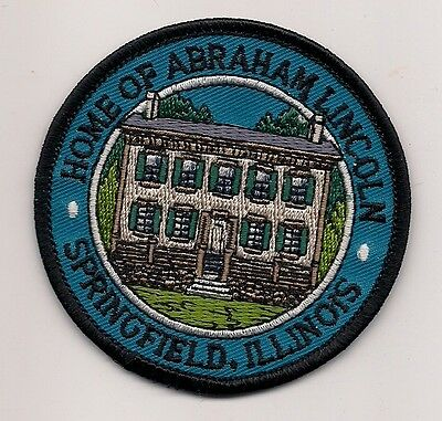 Souvenir Patch - City Of Springfield Illinois - Lincoln