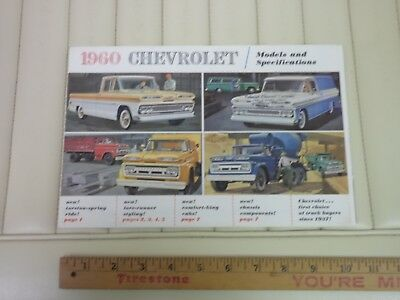 1960 Chevrolet Truck Full Line Folder Sales Brochure