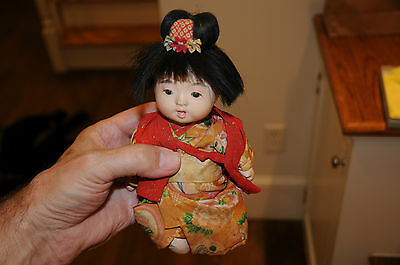 Antique Vintage Composition Jointed Doll Chinese Japanese Asian Oriental Girl...
