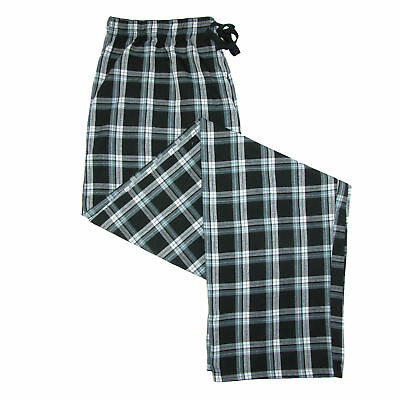 New Hanes Men's Woven Plaid Drawstring Sleep Pajama Pants