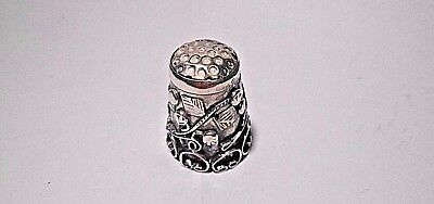Vintage Iguala Lmc .925 Sterling Silver Mexico Ornate Sewing Thimble - #2