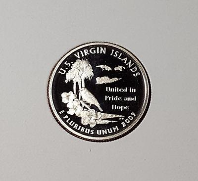 "2009-S ""u.s. Virgin Islands""  Territory Quarter Amazing Ultra Deep Cameo Proof"