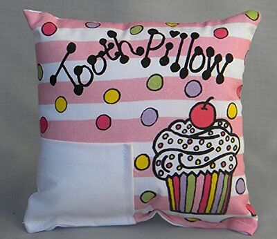 Bunnies and Bows Cupcake Tooth Fairy Pillow with Tooth Fairy Dust