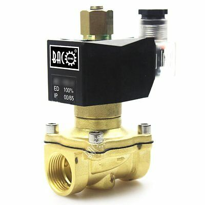 "BACOENG N/O 3/4"" NPT 12V DC Brass Water/Air/Fuel/Gas Electrical Solenoid Valve"