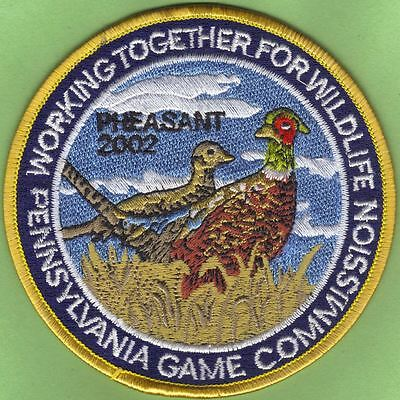 "Pa Penna Pennsylvania Game Commission NEW 2002 WTFW Ringneck Pheasant 4"" Patch"