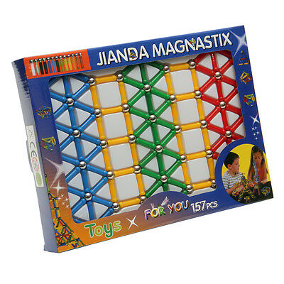 Magnastix Magnetic Construction Building Blocks Educational 157 Piece