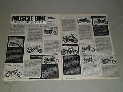 1986 MUSCLE BIKE BUYERS GUIDE article / ad