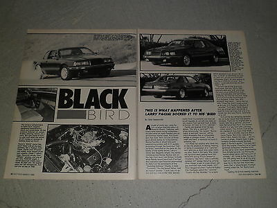 1984 FORD THUNDERBIRD article / ad