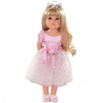 New Gotz Hannah Princess Standing 50cm High Long Brown Hair