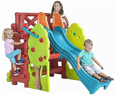 Woodland Activity Centre - Chidrens Climbng Frame with Slide