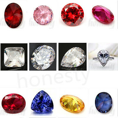 85Types Round Oval Cut Shaped Stunning Lustrous Sapphire Gemstone  Jewelry