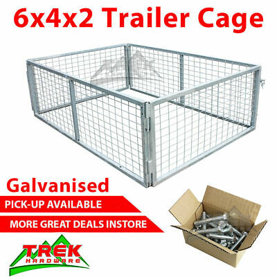 6x4x2 TRAILER CAGE GALVANISED CAGE Tie Down Rachets 1800x1240x600mm
