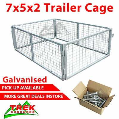 7x5x2 TRAILER CAGE GALVANISED CAGE Tie Down Rachets 2100x1540x600MM