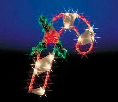 Impact Innovations Christmas Lighted Window Decoration, Candy Cane