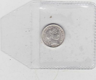 Usa 1912 Silver Dime In Near Extremely Fine Condition