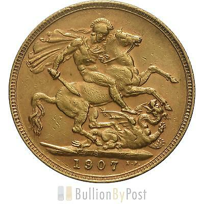1907 Gold Sovereign - King Edward VII - S