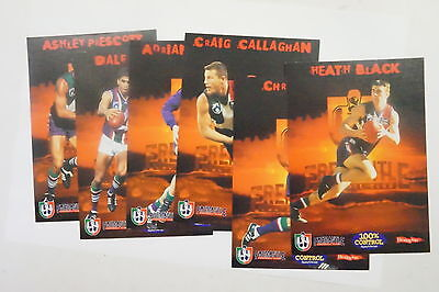 AFL 1999 Fremantle Dockers set of 6 cards issued by Healthway