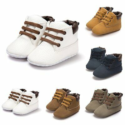 0-18M Baby Toddler Boys Girls Warm Ankle Boots Crib Anti-slip Sneakers Shoes