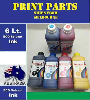 ECO SOLVENT INK FOR ROLAND,MIMAKI,MUTOH,EPSON,AGFA 6 x 1LTR