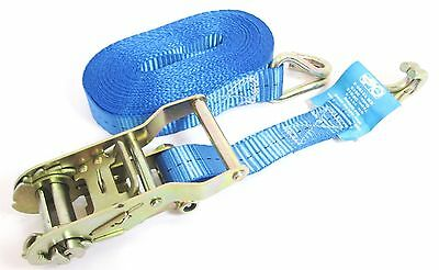0.4 Tonne x 8m x 25mm Ratchet Tie Down Lashing Strap Recovery Towing 400KG TD035