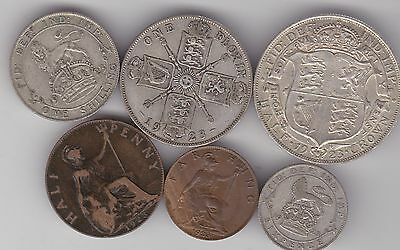 1923 George V Part Set Of 6 Coins In Fair Condition Or Better