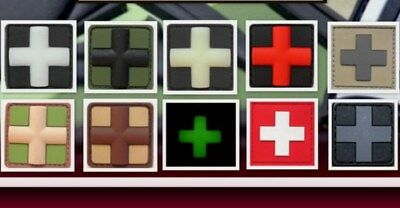 Ready to patch 3D Rubberpatch Red Cross medic mini  in 9 Farb. m. Klettrück.