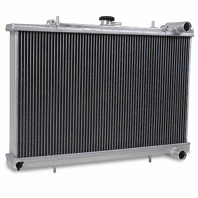 Twin Core Alloy Race Sport 55Mm Radiator Rad For Nissan S13 1.8 Turbo Ca18Det