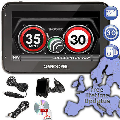 Snooper My-Speed XL GPS Speed Limit GPS Speed Trap Detection Technology