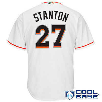 Miami Marlins MLB Giancarlo Stanton #27 Cool Base Home Jersey XL