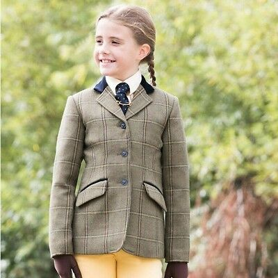 Equetech - Junior Stowe Deluxe Tweed Riding Jacket - Equestrian Hacking Jacket