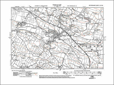 Rydal Ambleside N old map Westmoreland 1920 26NW repro
