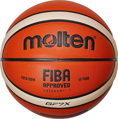 10x Molten BGF7X-X ohne DBB Logo Basketball  indoor FIBA APPROVED