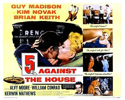 "LOBBY CARD FROM ""5 AGAINST THE HOUSE"" (REPRINT) - 8X10 or 11X14 PHOTO (MP-011)"
