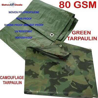 Green *tarpaulin* Waterproof - Heavy Duty - Strong - Light Weight Ground Sheet