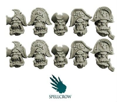 Spellcrow 28mm Freebooters Orcs Heads version 1 SPCB 5105 Bits Orcs Wargames