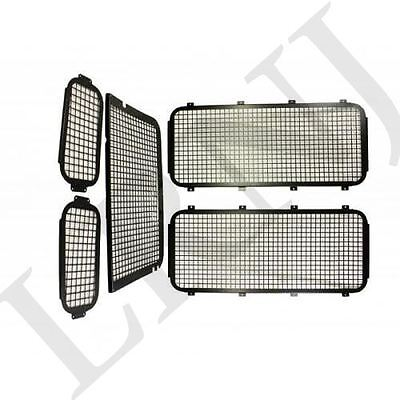 Land Rover Defender All Models Exterior Rear Window Mesh Grille Kit 5 Pieces Set