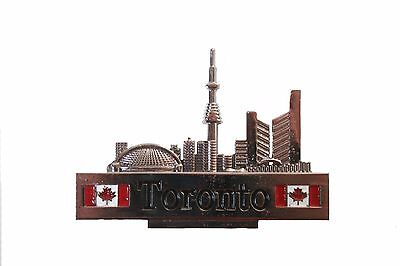 Toronto Skyline With Title & 2 Canada Flags  Magnet  .. New